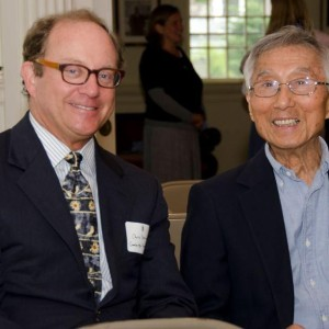 Business Supporter Chris Durning Of Cambridge Trust Talks With Community Chest Volunteer Ken Yang At The Community Chest Annual Day Of Giving.