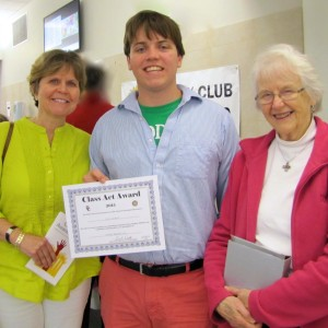 Nick Wilbur, Winner Of Rotary's History Reading Club Award, With His Mother, Bonny Wilbur And Grandmother Mart Doig.