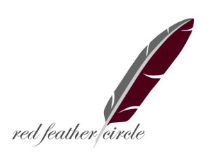 red feather circle