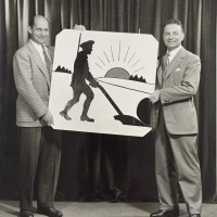 An Early Photo Of Two Chest Representatives With The First Logo. Gilbert M. Roddy Is On The Right. Can You Identify The Gentleman On The Left?